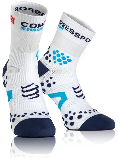 Compressport Racing V2.1 Run High Socks White/Blue